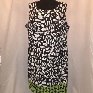 Black & white ALYX w/green design sleeveless dress